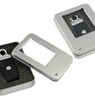 Llavero-Pendrive 4GB Simil Cuero – C9