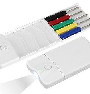 Set Mini-Destornilladores y LED – H23