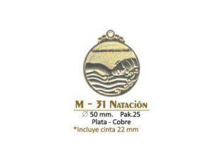 Medalla M-31 Natacion
