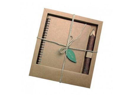 Libreta Eco con lápiz - regalo publicitario